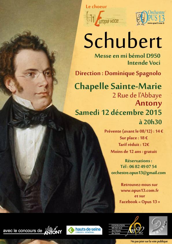 Messe de Schubert 12 déc. 2015