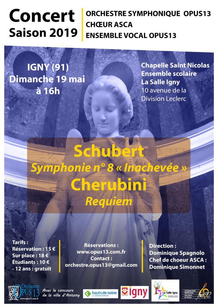 19 mai à Igny Schubert - Cherubini